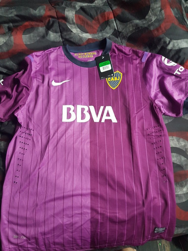 camiseta original boca juniors nike violeta 2013 xl nueva