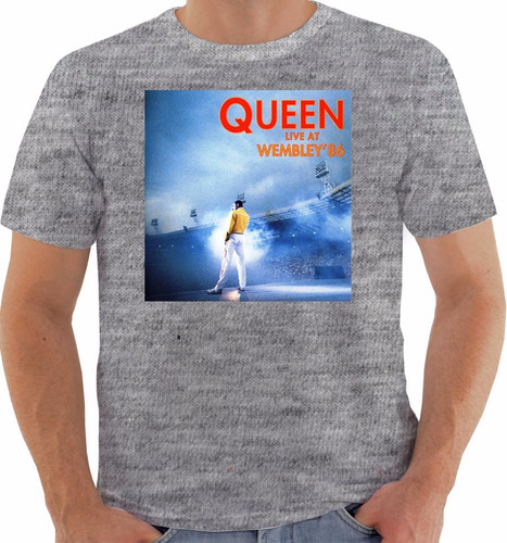 camiseta original disco queen live at wembley 86