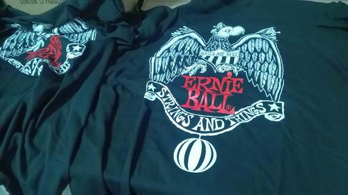 camiseta original ernie ball tamanho m - nova!