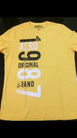 0d024f05d7 Camiseta Aeropostale Amarela Masculina Media - Calçados