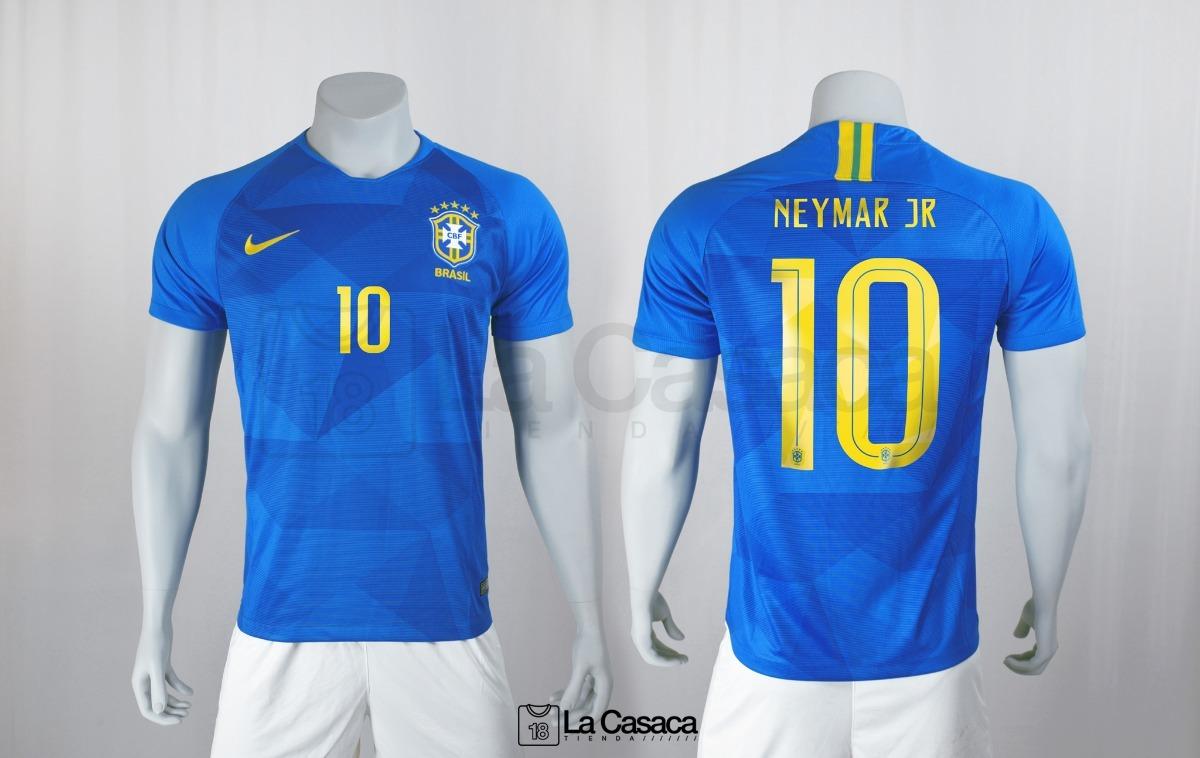 Camiseta Original Seleccion Brasil Visitante 2018 Neymar Jr - $ 149.900 en Mercado Libre