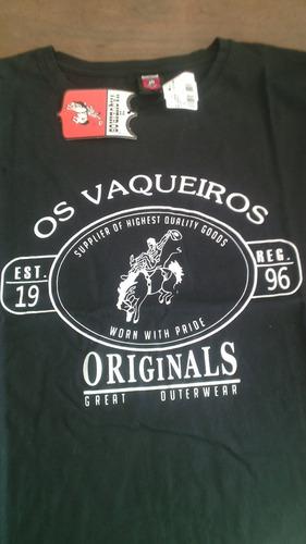 camiseta os vaqueiros preta