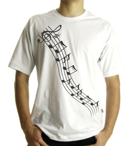 camiseta ou  baby look adulto e infantil  notas músicais 2