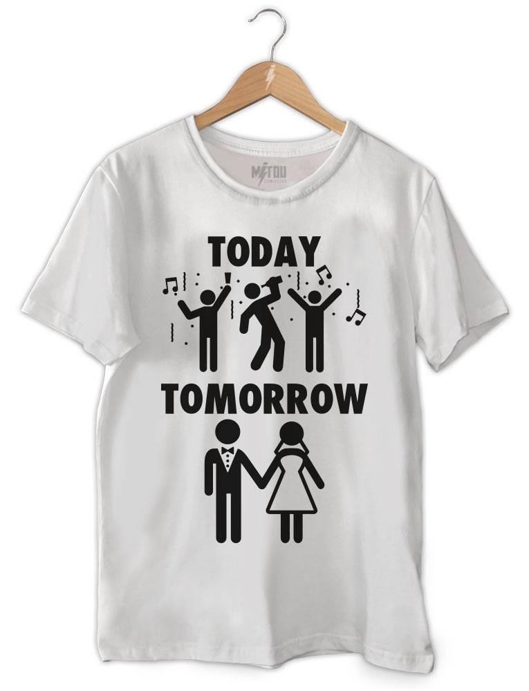 5457c4959 camiseta ou baby look camisa hoje farra amanhã casado. Carregando zoom.