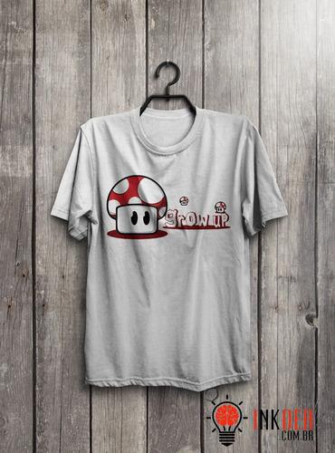 camiseta ou  baby look cogumelo (mario)