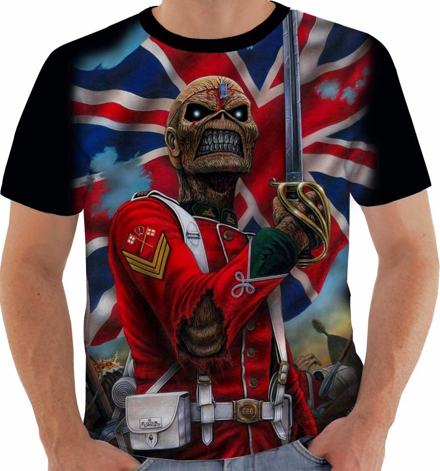 7c596440a camiseta ou baby look iron maiden eddie the trooper cor. Carregando zoom.