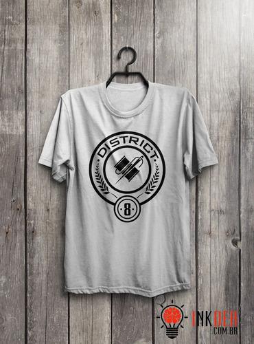 camiseta ou baby look jogos vorazes  - distrito 8