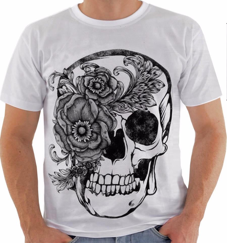 camiseta ou baby look ou regata caveira mexicana floral pb. Carregando zoom. 4b922dac742