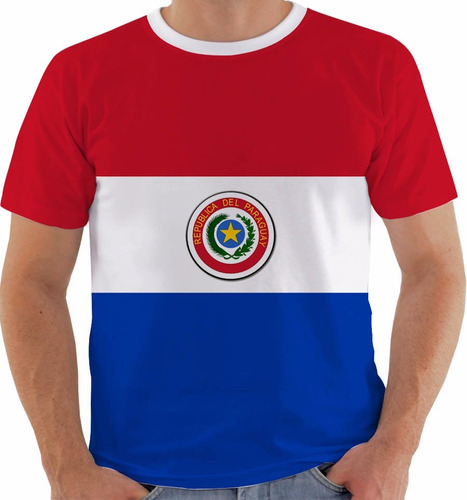 camiseta ou baby look ou regata paraguay bandeira