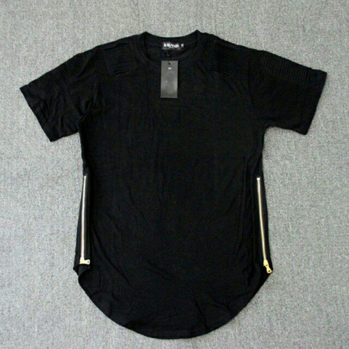 f376a42c6 camiseta oversized long line com ziper masculina feminina. Carregando zoom.