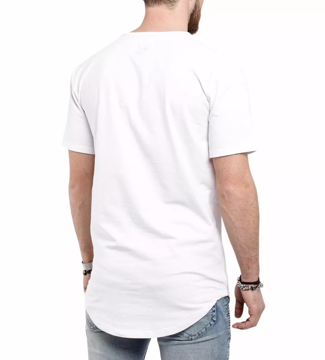 dac30d685 camiseta oversized masculina long line branca raiders. Carregando zoom.