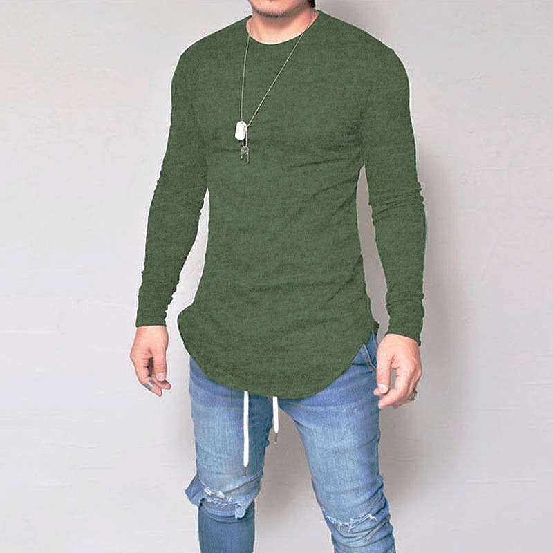3040b0022 camiseta oversized swag longline camisa manga longa verde. Carregando zoom.