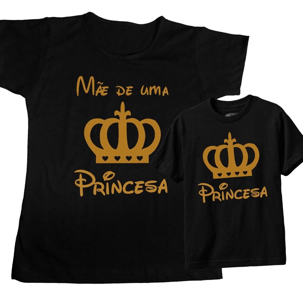 Camiseta Pai Mãe E Filhoa Príncipe E Princesa Kit Com 3 R 132
