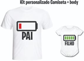 6f4bb42aeb0fd9 Camiseta Pai Ou Mãe Bateria Gasta + Body - Personalizado