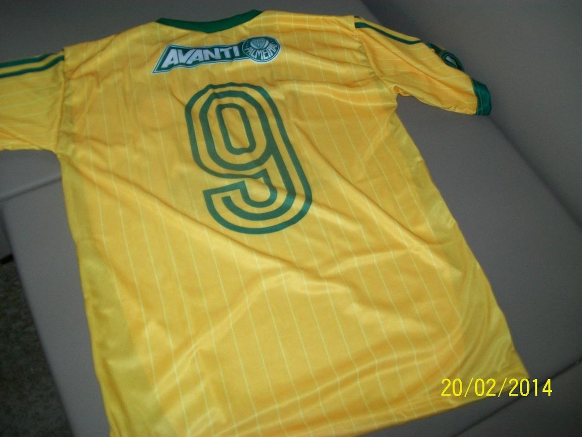 camiseta palmeiras copa 2014 amarela camisa esporte. Carregando zoom. c8b0a1f982b3a