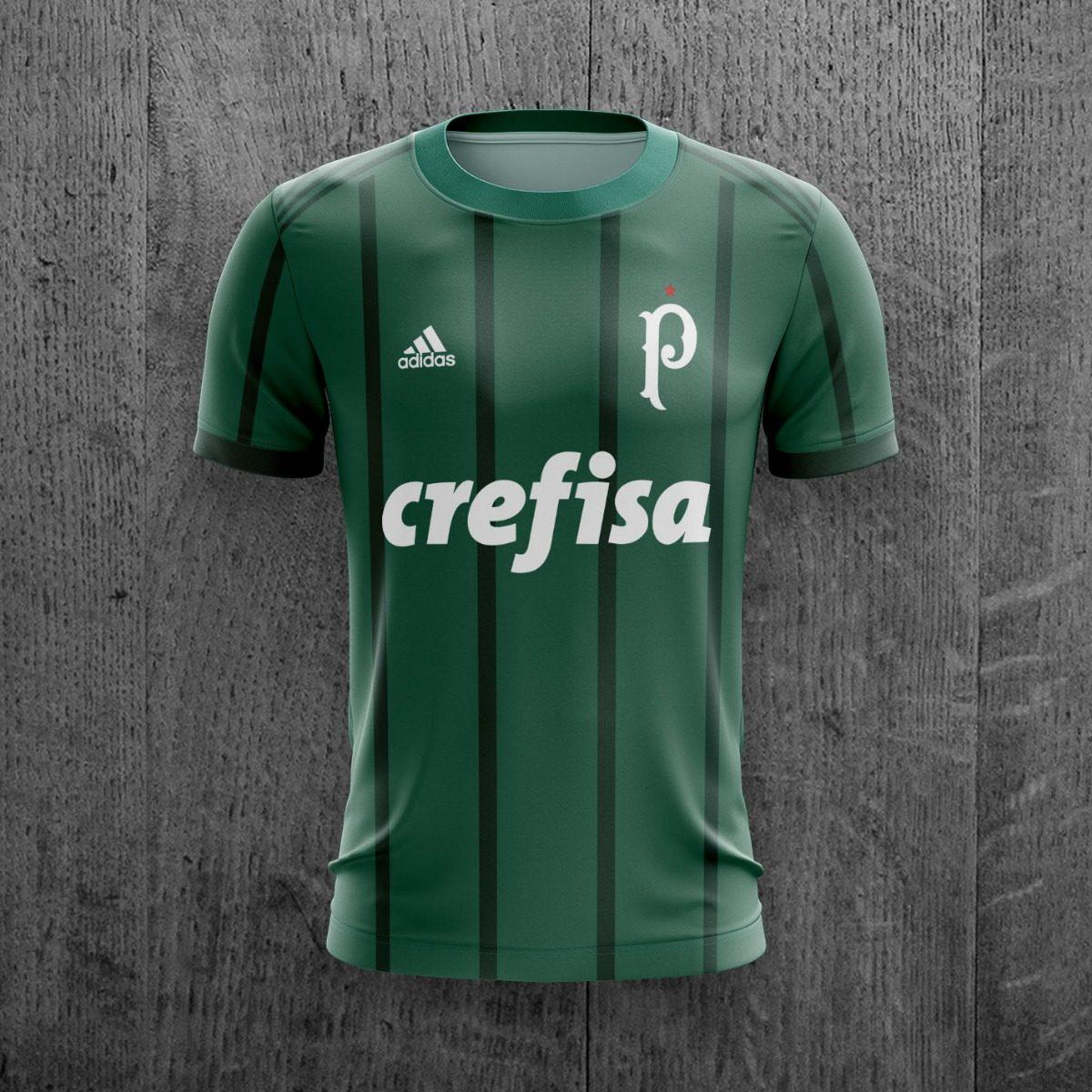 camiseta palmeiras crefisa 2018 futebol personalizada c nome. Carregando  zoom. af40fc9b6ef42