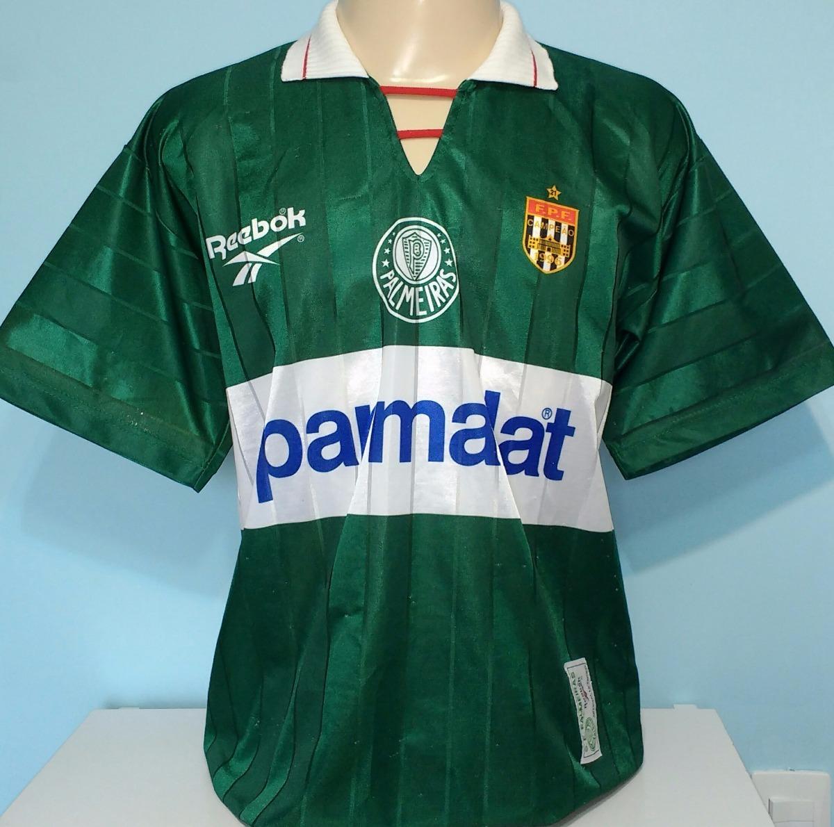 7f48bf7d0b472 camiseta palmeiras djalminha 1996 antiga original reebok- 96. Carregando  zoom.