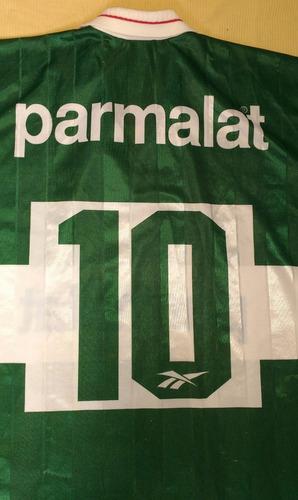 camiseta palmeiras parmalat antiga reebok djalminha 1996- 96