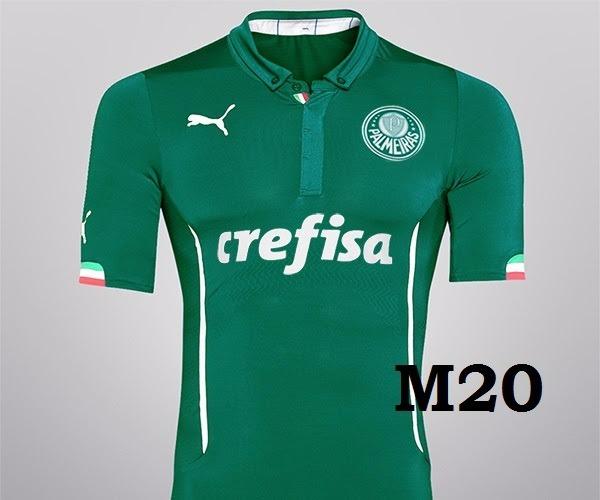2f584c47a1 Camiseta Palmeiras Polo Retrô   Personalizada - R  79