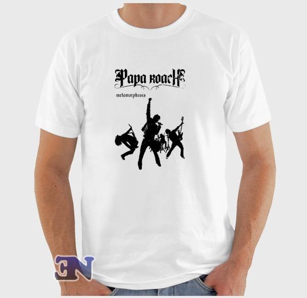 ff836e1df3 Camiseta Papa Roach Metamorphosis Álbum Banda Rock Camisa - R$ 40,00 ...