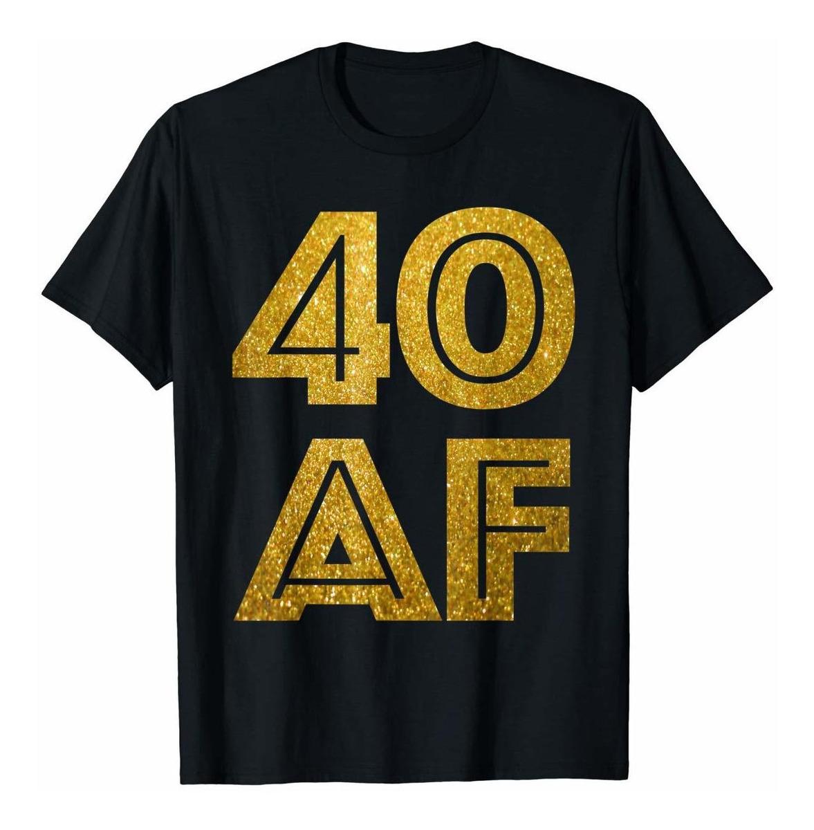 De Hombre A Para Camiseta 40 Cumpleanos Numero dxBQotshrC