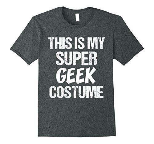 camiseta para hombre divertido este mi super geek traje sup