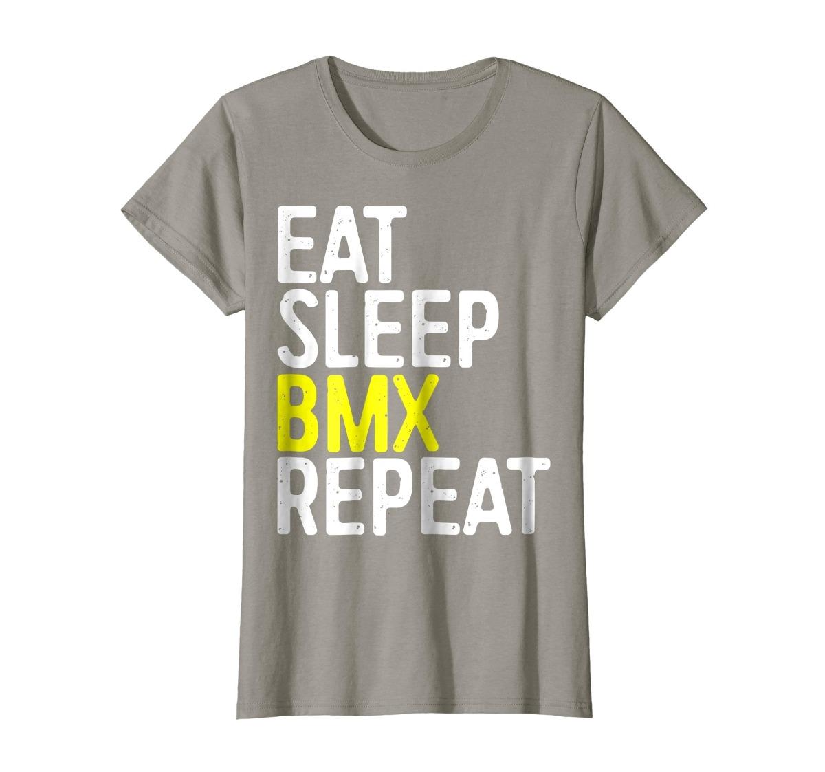 35eb4edbfe22e Camiseta Para Mujer Eat Sleep Bmx Repeat Camiseta Diverti - S  231 ...