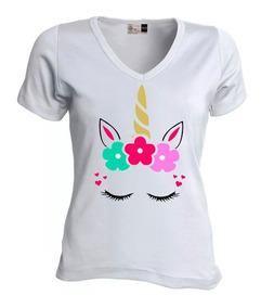 compra original 100% de alta calidad zapatos exclusivos Camiseta Para Mujer Unicornio Dama Blusa Niña Algodón