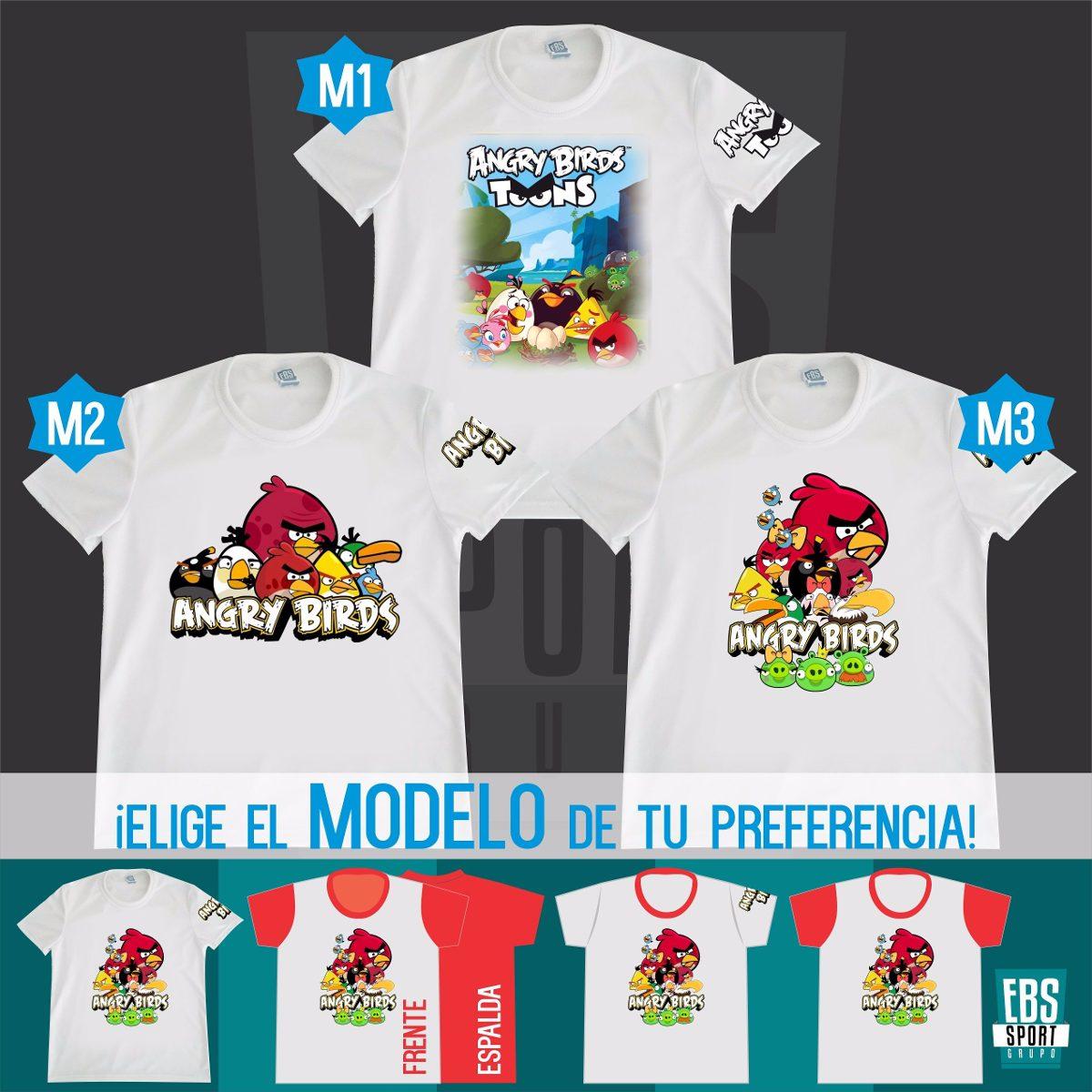 Camiseta Para Niños Angry Birds Minions Algodon -   20.000 en . f09f9c8a148a2