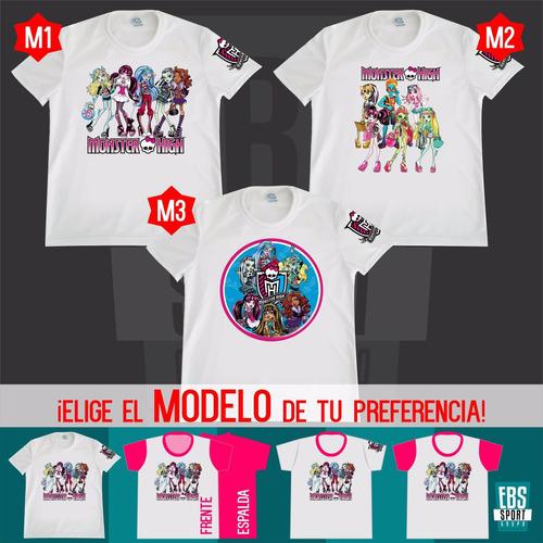 camiseta para niños y niñas aladdin moster high poliester