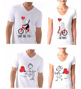 selección mundial de precios increibles gran variedad de Camiseta Para Parejas - Estampado Personalizado