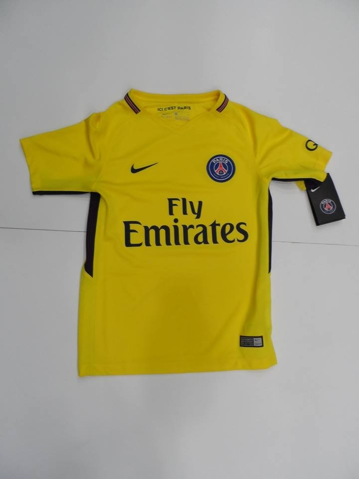 fb5d84c9b766c camiseta paris saint germain niño 2017-2019 amarilla nike. Cargando zoom.
