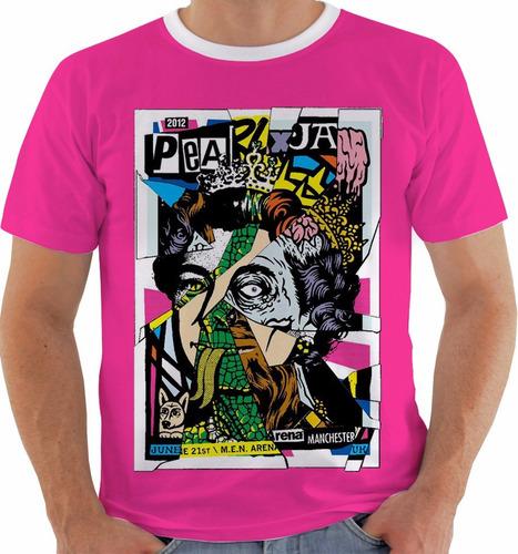 camiseta pearl jam - concert poster - live manchester