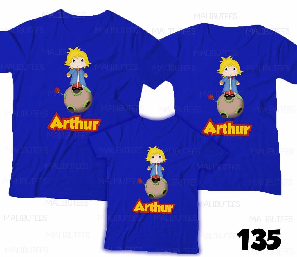 f080da65a80 camiseta pequeno príncipe personalizada aniversário com 3. Carregando zoom.