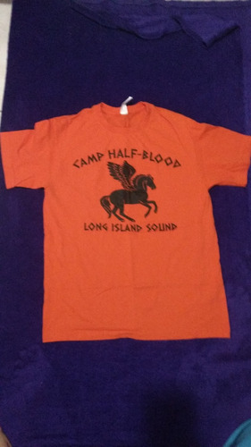 camiseta percy jackson; campamento mestizo