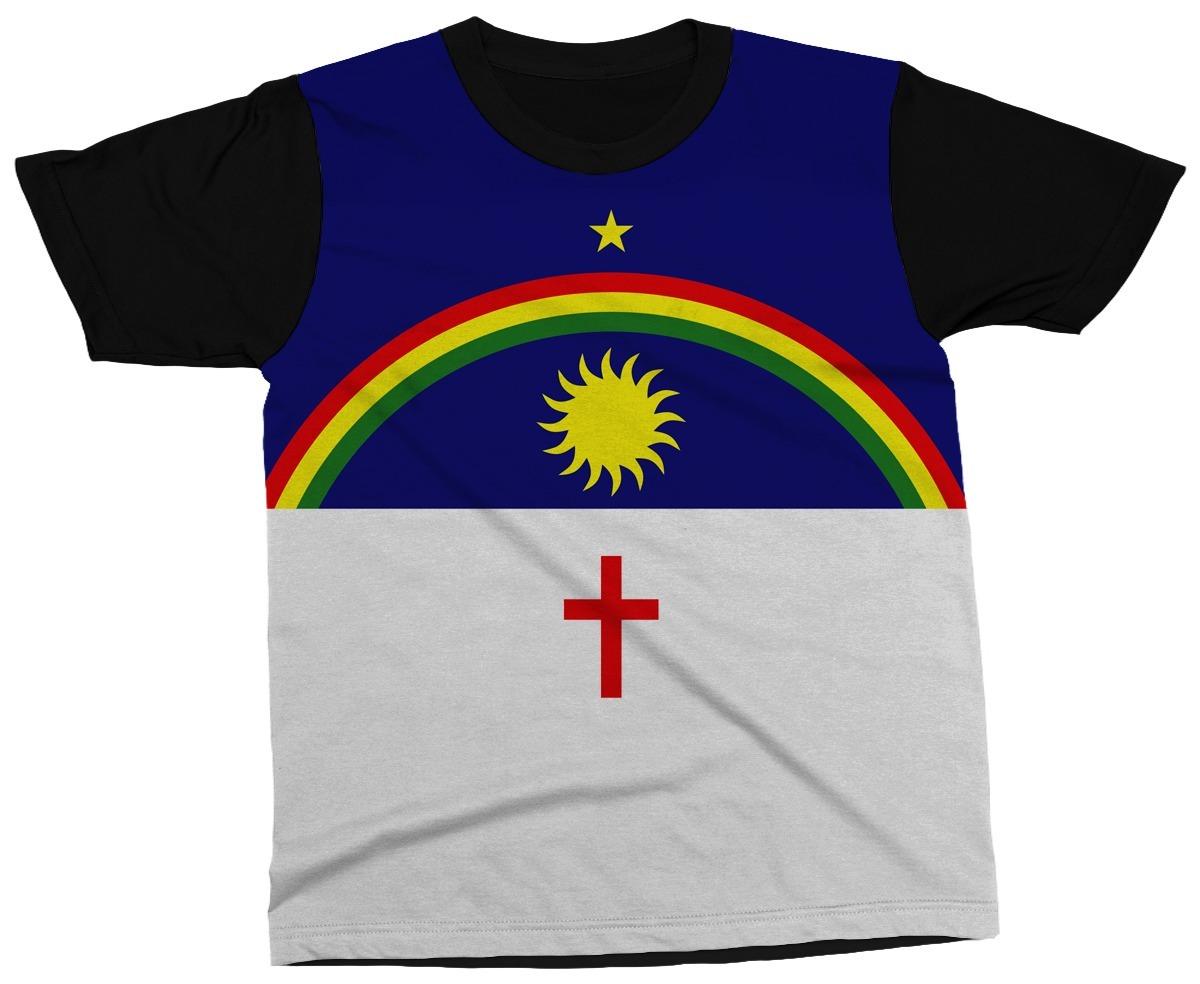 93baaaa5e7ff8 Camiseta Pernambuco Estado Brasil Bandeira Símbolo Camisa - R  89