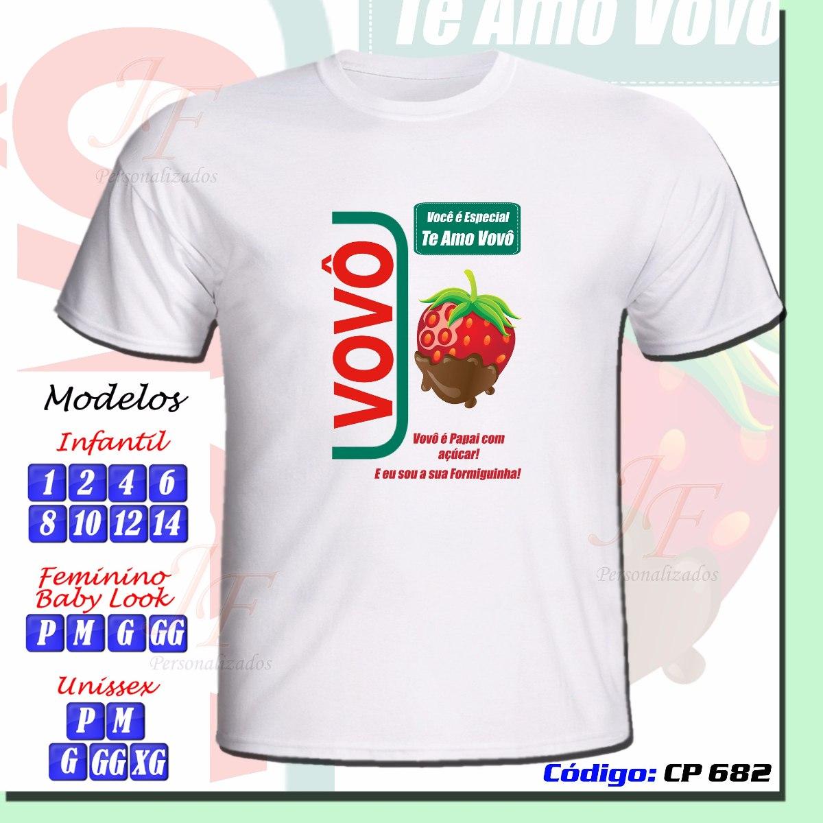 9a76476088 camiseta personalizada adulto infantil vovó vovô. Carregando zoom.