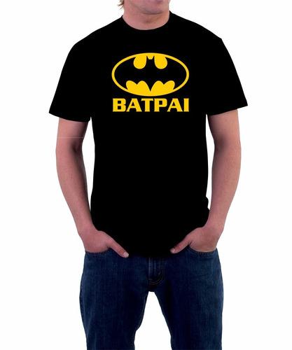 camiseta personalizada batpai batman robin herois 100% alg.