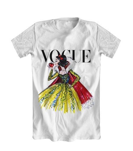 Camiseta Personalizada Criativa Vogue Branca De Neve - R  25 65970441008ad