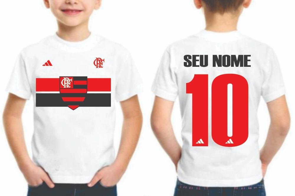 396a8864a0399 camiseta personalizada infantil flamengo time do coração. Carregando zoom.