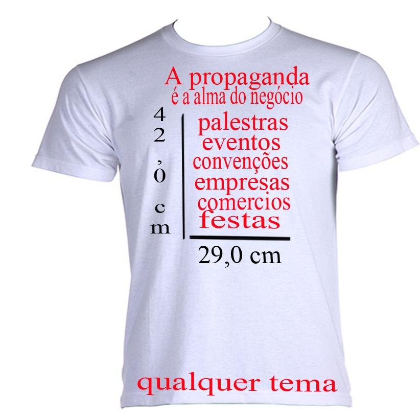 7e8759ca5 camiseta personalizada! logo para empresa frente verso. Carregando zoom.