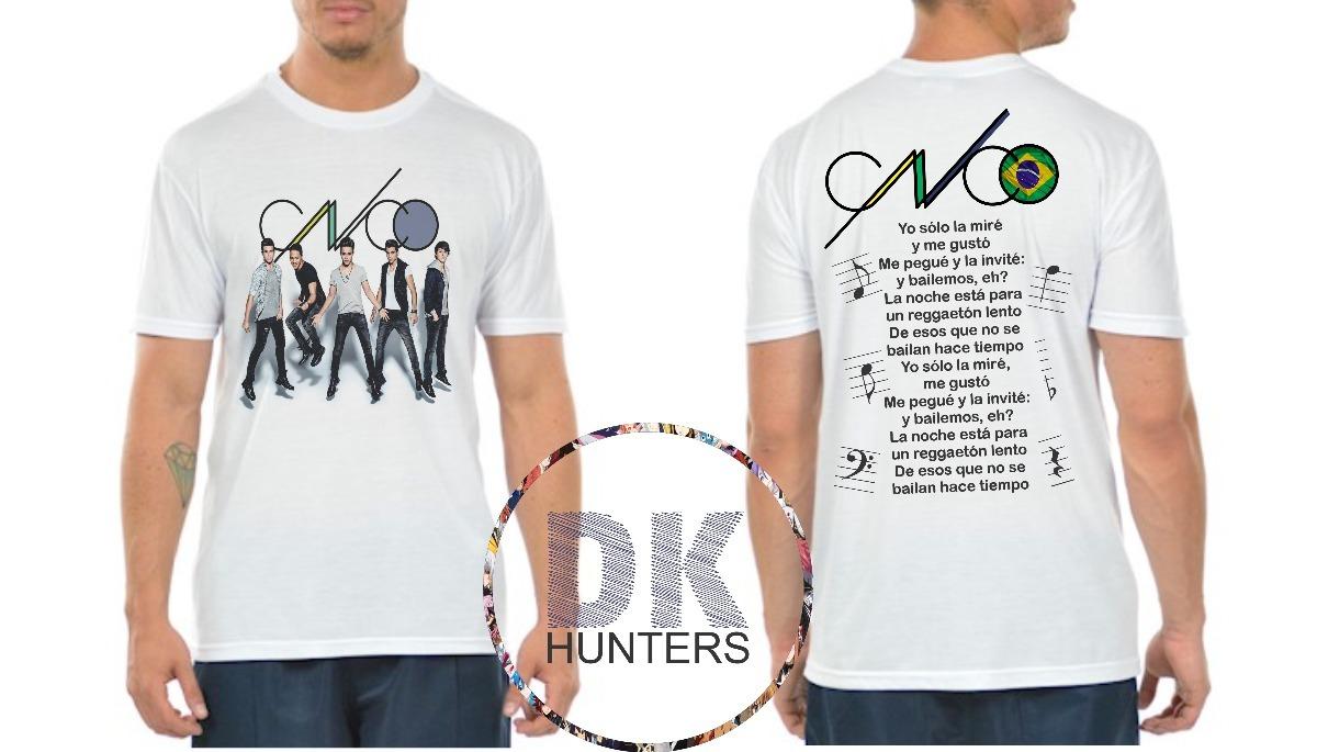 05b7bf70ab camiseta personalizada masculina e feminina grupo - cnco. Carregando zoom.
