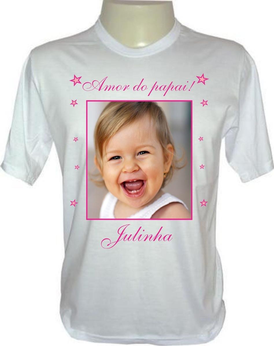 2773c877b camiseta personalizada - personalize camisa com foto e frase. Carregando  zoom.