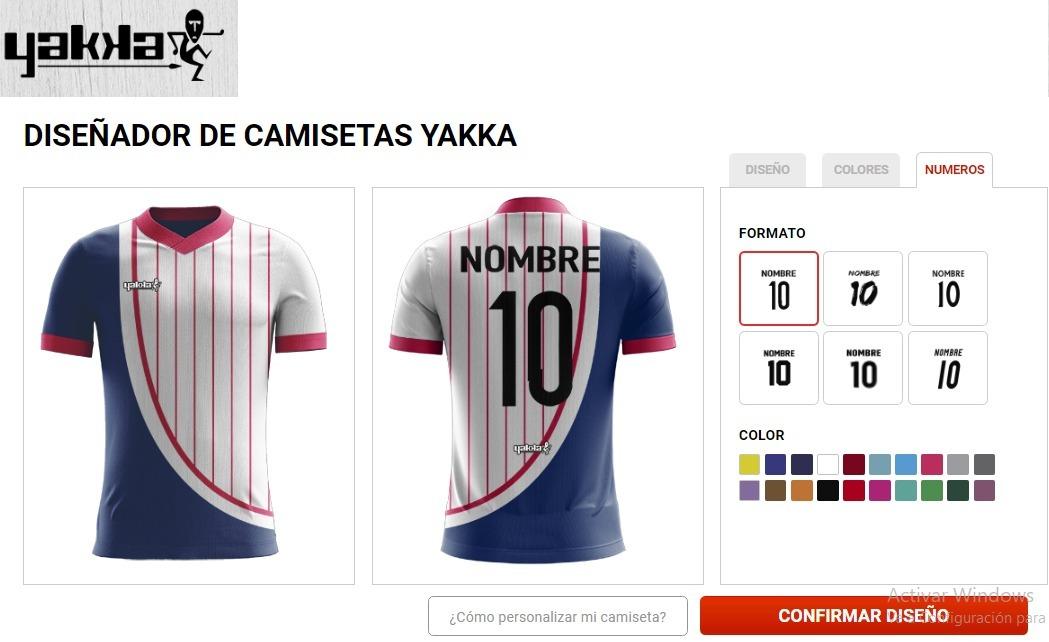 881ad0990013a camiseta personalizada yakka diseñala nombre escudo. Cargando zoom.