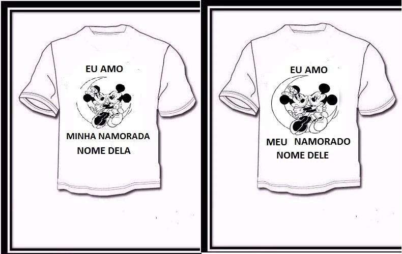 7ef41953a Camiseta Personalizado Dia Dos Namorados 2 Camisetas C frete - R  72 ...