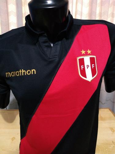 camiseta peru marathon copa america 2019 blanca negra azul