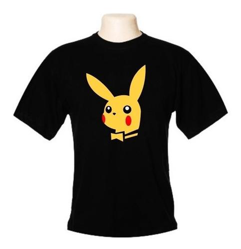 camiseta pikachu playboy - pokémon - wimza