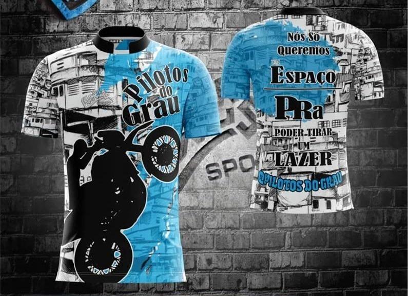 9f4c25377f Camiseta Pilotos Do Grau + 2 Adesivo - R  62