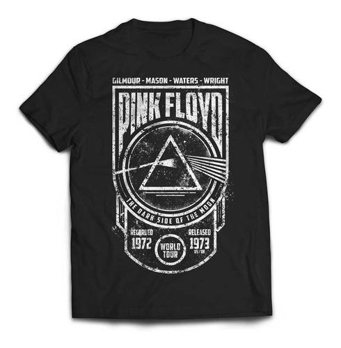 camiseta pink floyd dark side seal rock activity