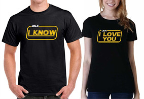 6ae469dcd Camiseta Playera Paquete Parejas Enamorados Star Wars